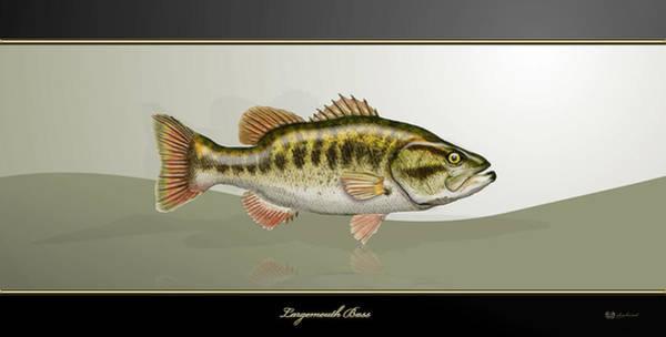 Digital Art - Largemouth Bass by Serge Averbukh