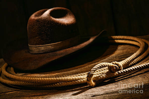 Cowboy Photograph - Lariat And Hat by Olivier Le Queinec