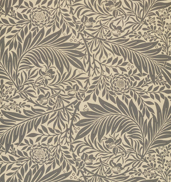 Decorative Painting - Larkspur Wallpaper Design by William Morris