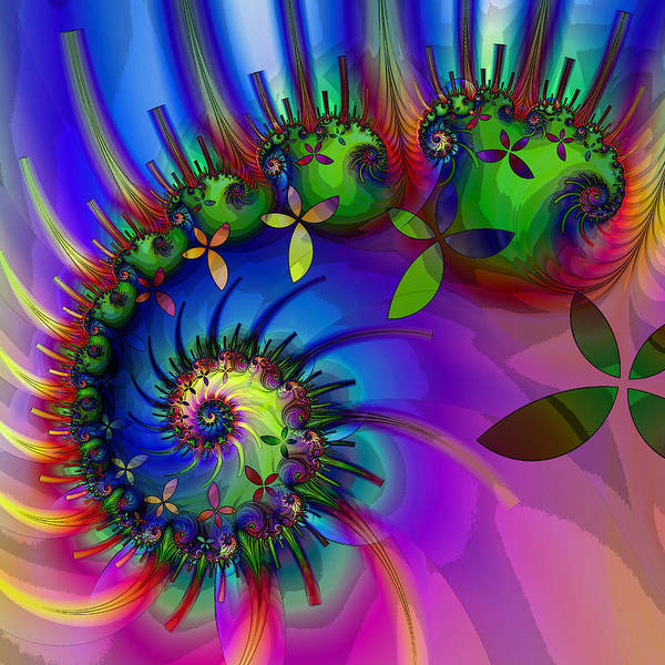 Blue Bug Digital Art - Larvae by Sharon Lisa Clarke