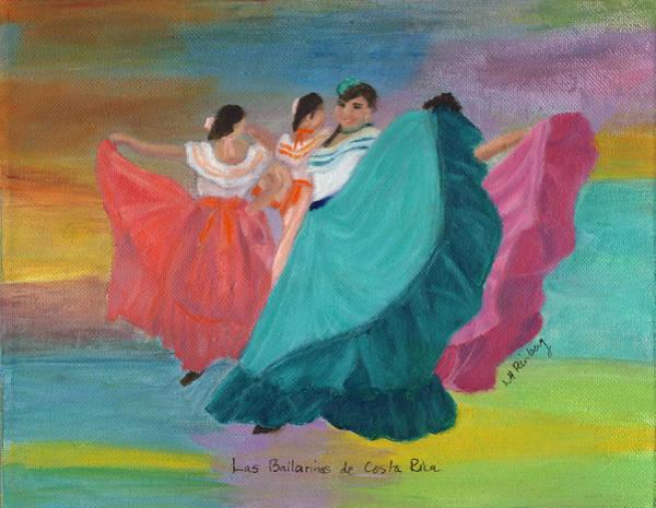 Painting - Las Bailarinas De Costa Rica by Linda Feinberg