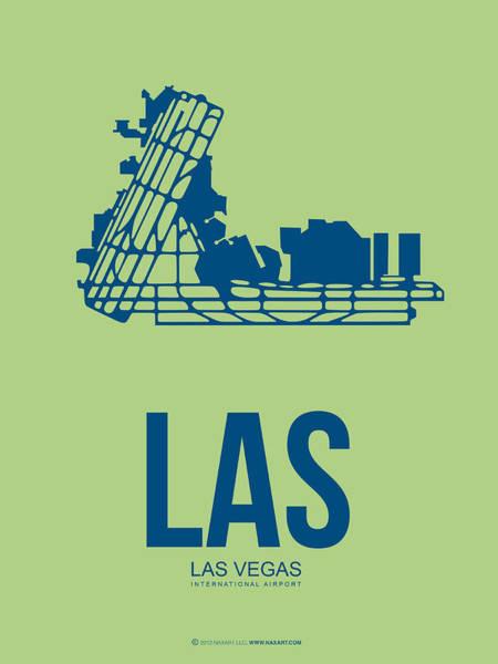 Las Vegas Wall Art - Digital Art - Las Las Vegas Airport Poster 2 by Naxart Studio