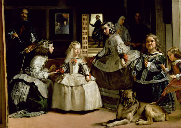 Velazquez Wall Art - Painting - Las Meninas, Detail Of The Lower Half Depicting The Family Of Philip Iv Of Spain, 1656 by Diego Rodriguez de Silva y Velazquez