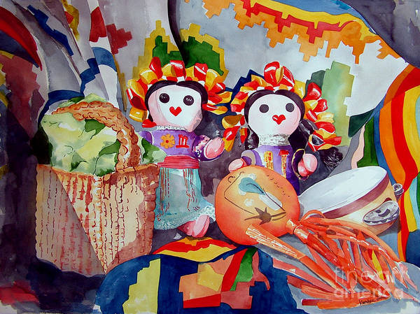 Painting - Las Muneca Chicas by Kandyce Waltensperger