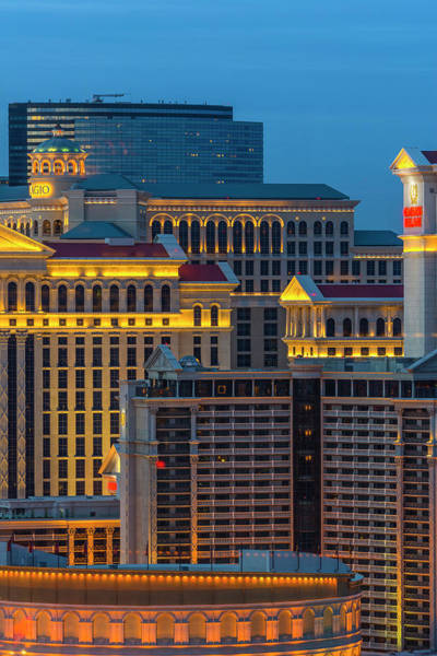 Bellagio Hotel Photograph - Las Vegas, Caesars Palace, Bellagio by Alan Copson