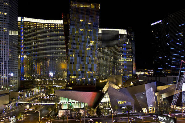 Las Vegas City Center Art Print