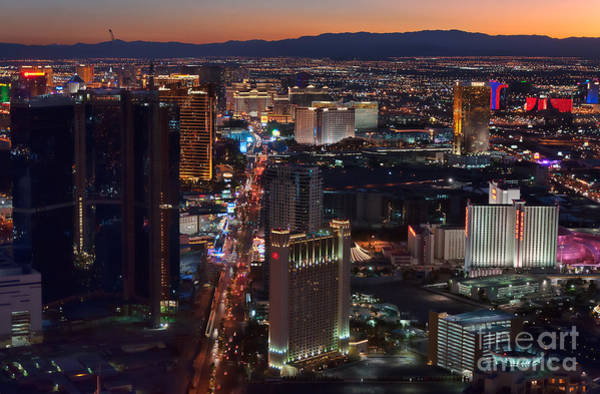 Photograph - Las Vegas From The Stratosphere by Eddie Yerkish