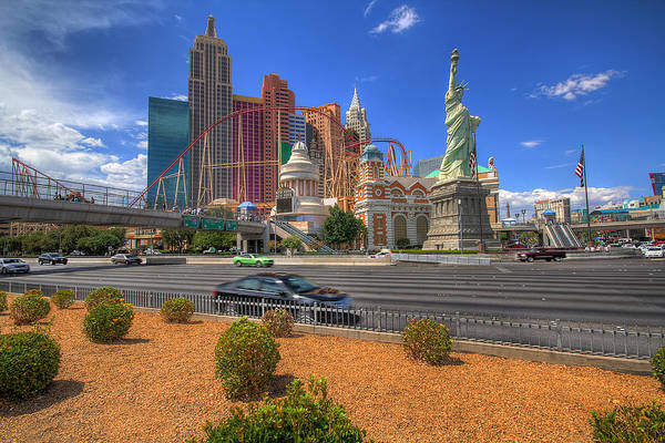 Photograph - Las Vegas New York New York by Hans- Juergen Leschmann