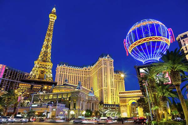 Las Vegas Photograph - Las Vegas, Paris Las Vegas And The by Sylvain Sonnet