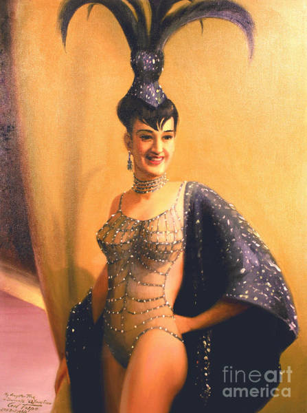 Painting - Las Vegas Showgirl  1960s by Art By Tolpo Collection