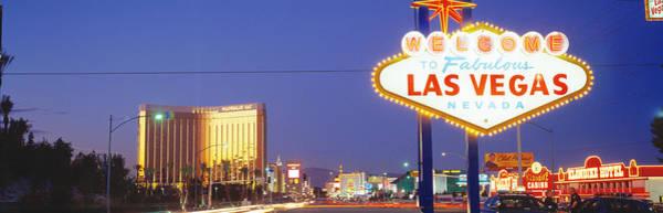 Fabulous Photograph - Las Vegas Sign, Las Vegas Nevada, Usa by Panoramic Images