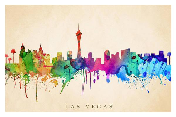 Downtown Las Vegas Digital Art - Las Vegas  by Steve Will