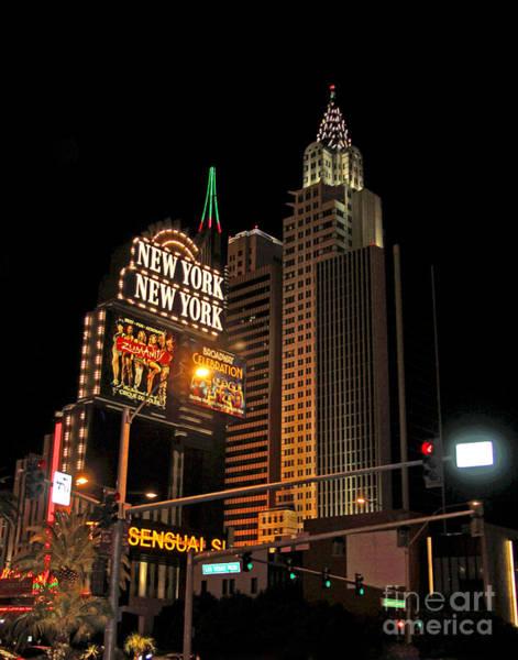Photograph - Las Vegas Strip New York New York by Larry Oskin
