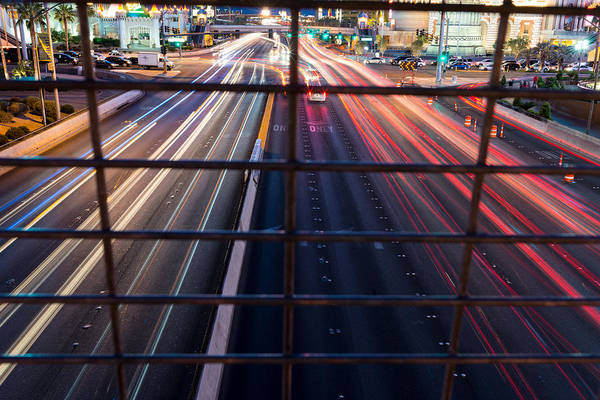 Photograph - Las Vegas Twilight Traffic by Clint Buhler