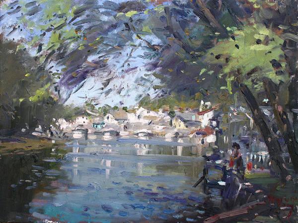Waterscape Painting - Lasale In Niagara Falls by Ylli Haruni