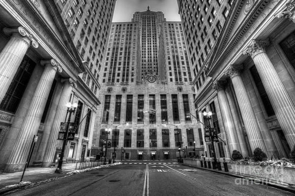 Wall Art - Photograph - Lasalle Street In Chicago In Black And White by Twenty Two North Photography