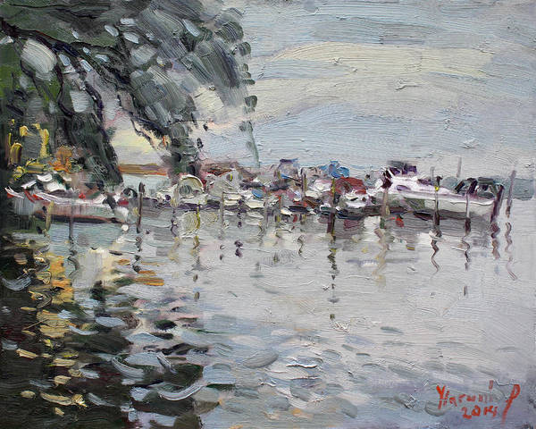 Lake House Painting - Lasalle Yacht Club by Ylli Haruni
