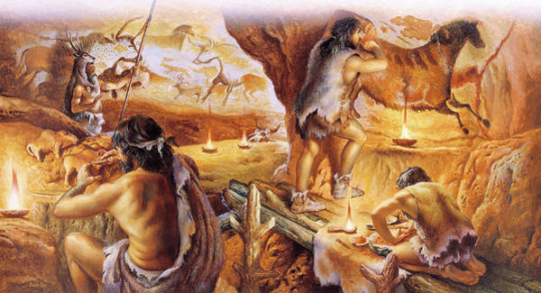 Homo Sapiens Photograph - Lascaux Caves by Christian Jegou Publiphoto Diffusion/ Science Photo Library