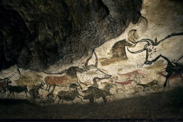 Wall Art - Photograph - Lascaux II Cave Painting Replica by Science Photo Library