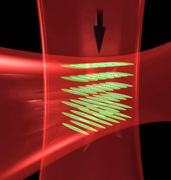 Laser Photograph - Laser Beams In Atomic Clock by Jila, Baxley
