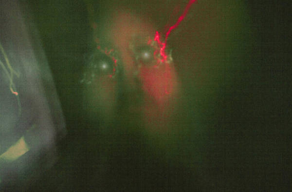 Laser Gun Photograph - Laser Lightning Eye's Green And Red by Don Lee