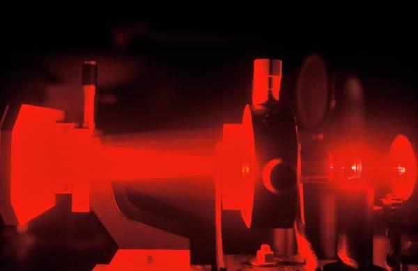 Laser Photograph - Laser Megajoule Laser Beam Amplification by Patrick Landmann/science Photo Library