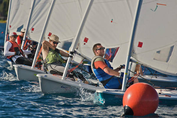 Photograph - Laser Regatta On Lake Tahoe by Steven Lapkin