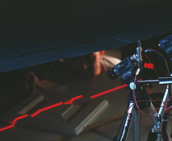 Laser Photograph - Laser Sensor by Mauro Fermariello/science Photo Library
