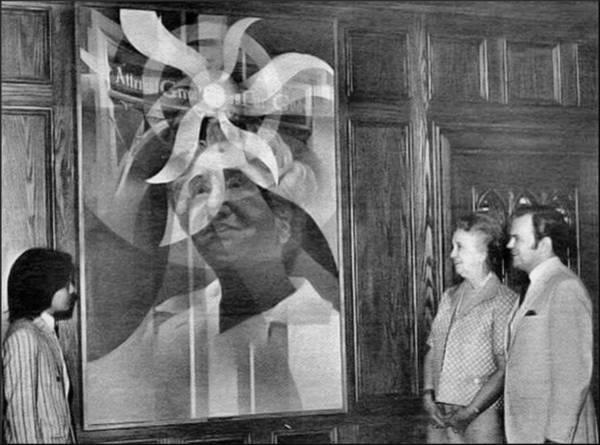 Painting - Laskey Portrait Unveiling 1972 B by Glenn Bautista