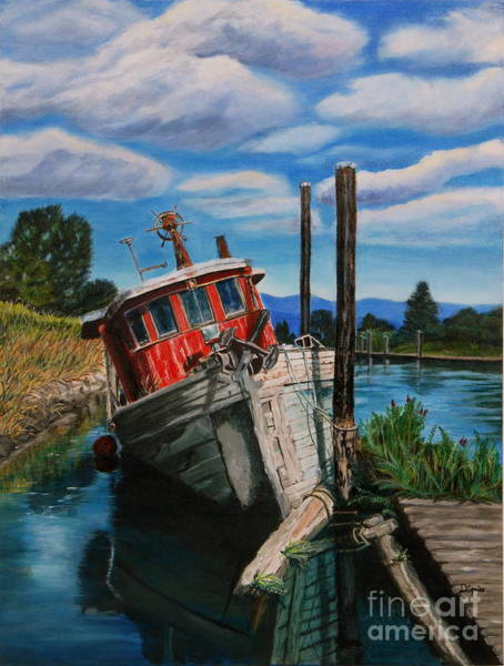 Alouette Wall Art - Painting - Last Berth by Diane Speirs