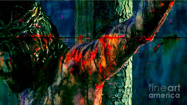 Redemption Painting - Last Breath Of Jesus by Michael Grubb