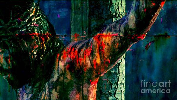 Wall Art - Painting - Last Breath Of Jesus by Michael Grubb