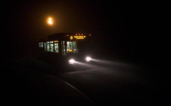 Furon Photograph - Last Bus In The Fog by Daniel Furon