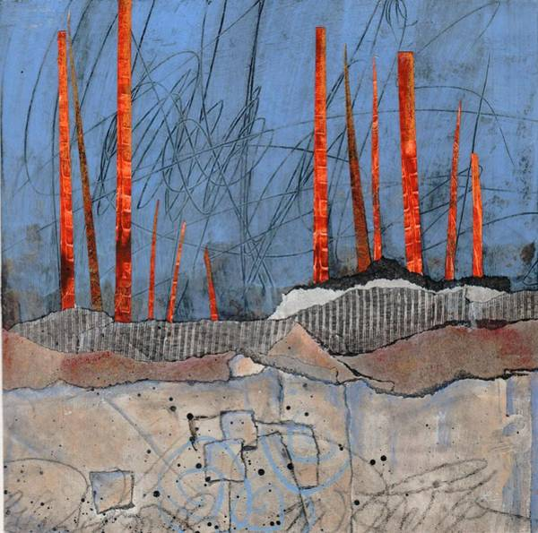 Abstract Mixed Media - Last Days Of Winter by Laura  Lein-Svencner