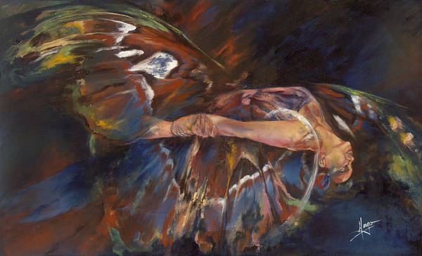 Acrobat Wall Art - Painting - Last Flight by Karina Llergo