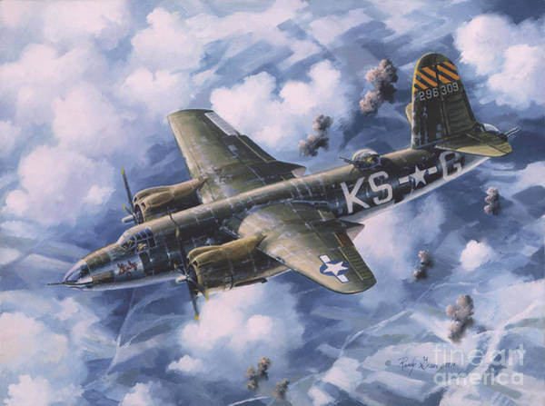 Air War Painting - Last Flight Of The Shirley D by Randy Green