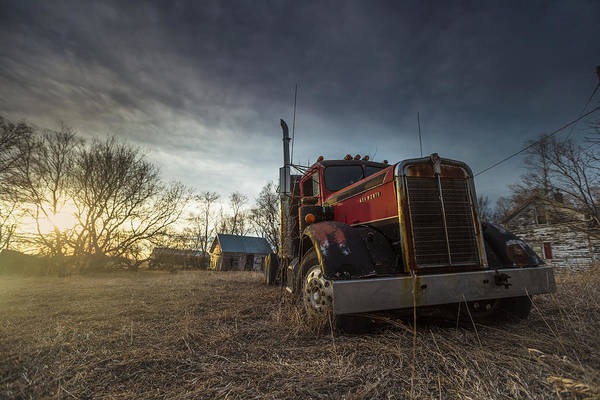 Semi Truck Photograph - Last Haul by Aaron J Groen