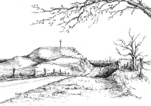 Drawing - Last Hill Home by Sam Sidders