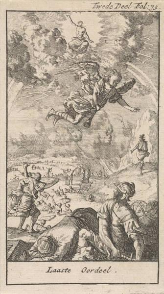 Judgement Wall Art - Drawing - Last Judgment, Caspar Luyken, Jan Claesz Ten Hoorn by Caspar Luyken And Jan Claesz Ten Hoorn