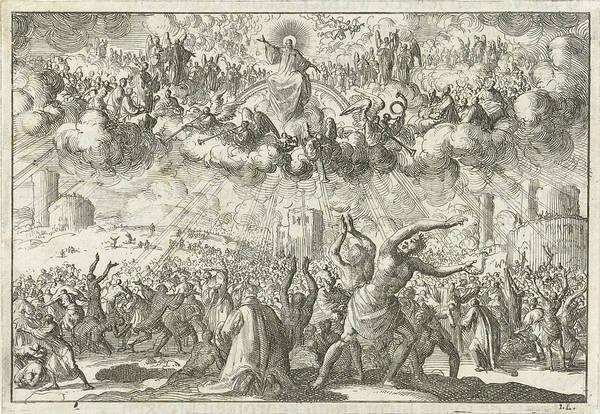 Wall Art - Drawing - Last Judgment, Jan Luyken, David Ruarus by Jan Luyken And David Ruarus