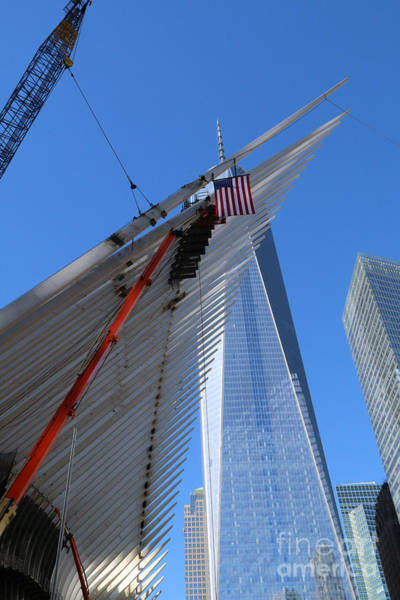 Photograph - Last Large Wtc Oculus Rafter Raised Four by Steven Spak
