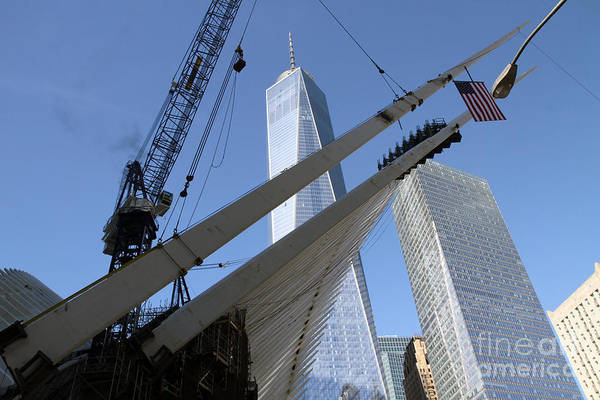 Photograph - Last Large Wtc Oculus Rafter Raised Number Three by Steven Spak
