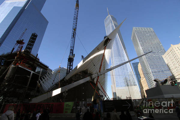 Photograph - Last Large Wtc Oculus Rafter Raised Number Two by Steven Spak