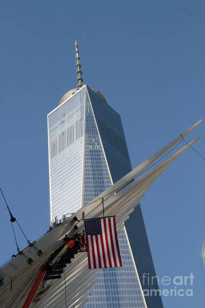 Photograph - Last Large Wtc Oculus Rafter Raised Three by Steven Spak