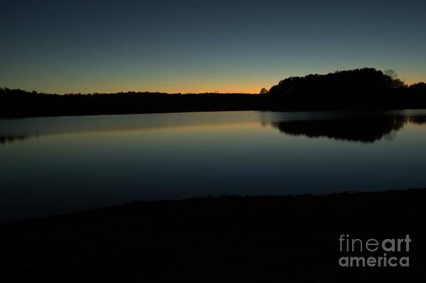 Lake Juliette Photograph - Last Light by Donna Brown