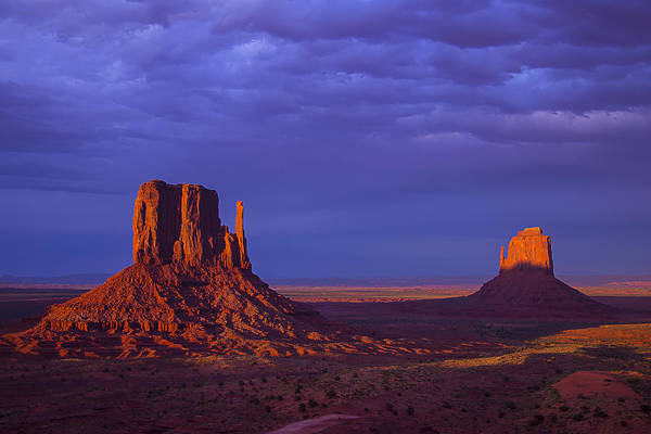 Monument Valley Navajo Tribal Park Wall Art - Photograph - Last Light Monument Valley by Garry Gay