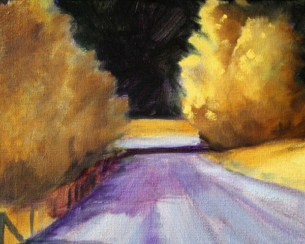Yellow Ochre Painting - Last Light by Nancy Merkle