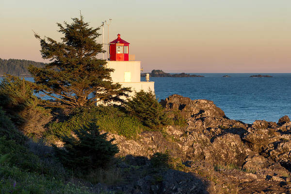 Promontory Point Photograph - Last Light On Amphritite Lighthouse by Kathleen Bishop