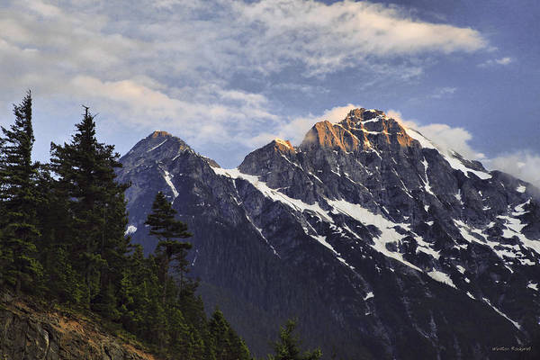 Wall Art - Photograph - Last Light On Mt. Challenger by Winston Rockwell