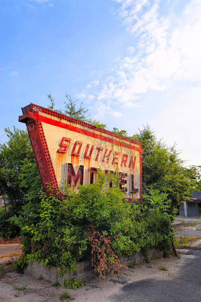 Photograph - Last Morning At The Southern Motel - Vintage Signs by Mark Tisdale